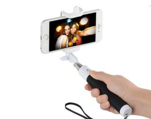 Černá selfie tyč pro Samsung