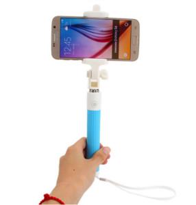 Modrá selfie tyč levně