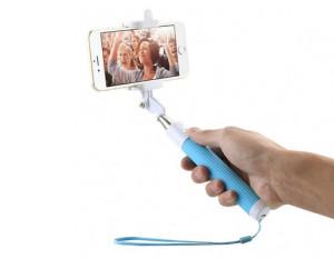 Modrá selfie tyč pro Samsung