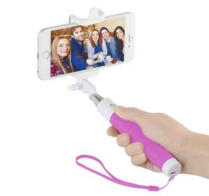 Růžová selfie tyč pro Samsung